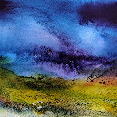 "Cairngorm Glen, 16"" x 12"" (mounted) watercolour on paper"