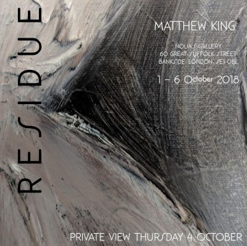 """RESIDUE"" - Nolia's Gallery 1-6 October 2018"
