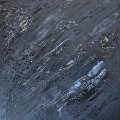 """Slab, 16""""x16"""" acrylic and texture on canvas"""