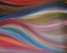 """Geothermal, 32""""x40"""" acrylic and texture on canvas"""