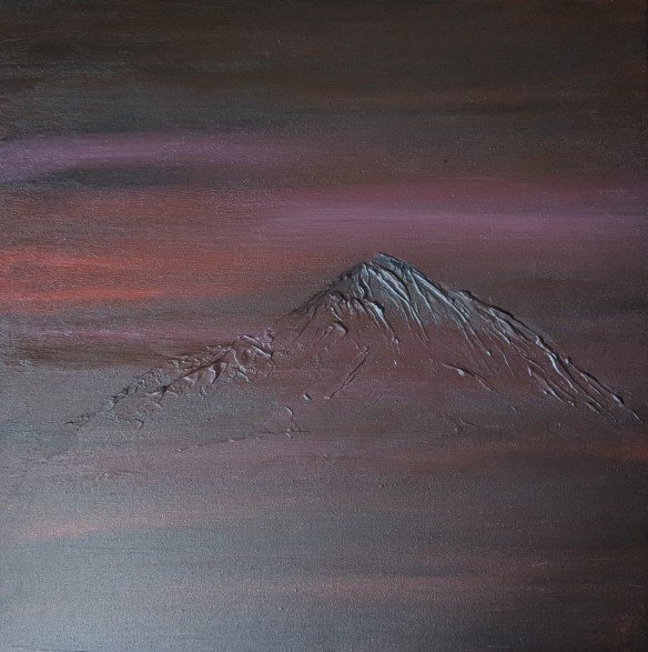"""The Mountain, 20""""x20"""" acrylic and texture on canvas"""