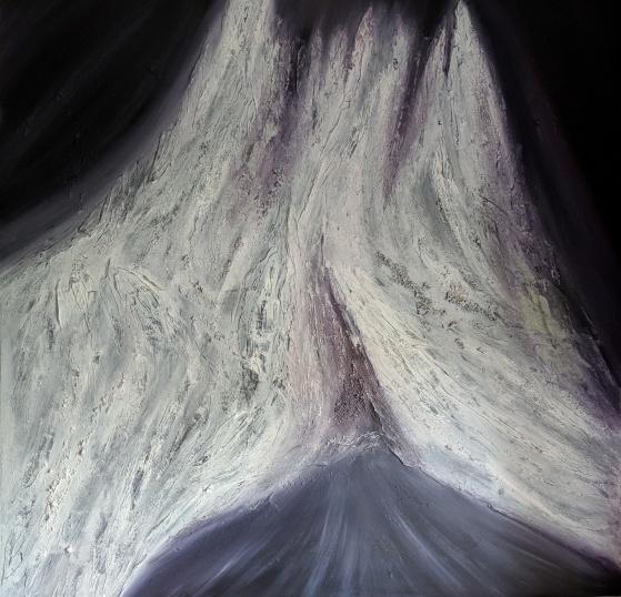 "Presence, 60""x60"" acrylic and texture on canvas"