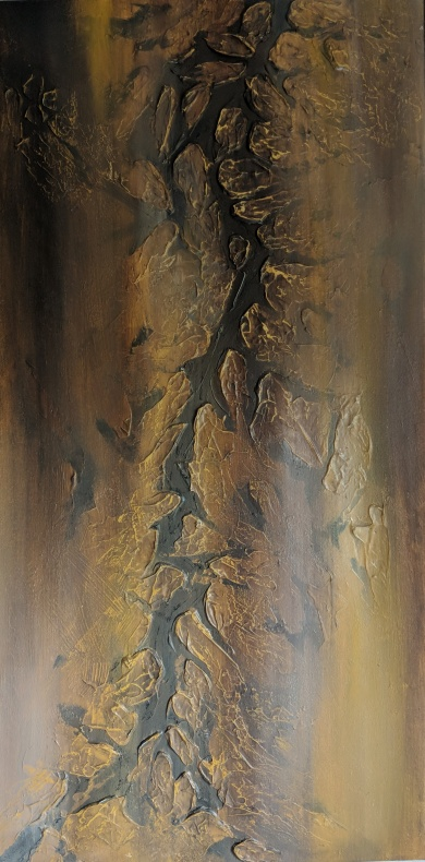 """Parched, 40""""x20"""" acrylic and texture on canvas"""
