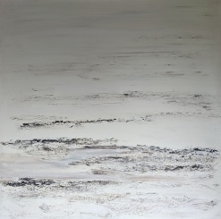 """SOLD Igneous, 32""""x32"""" acrylic and texture on canvas"""