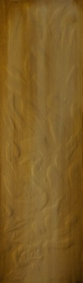 """Left Behind, 40""""x12"""" acrylic and texture on canvas"""