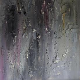 "Manifestation, 32""x32"" acrylic and texture on canvas"
