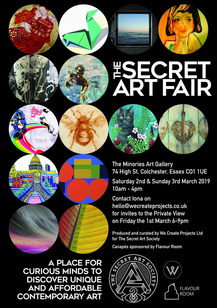 """SECRET ART FAIR"", Colchester 1-3 March 2019"